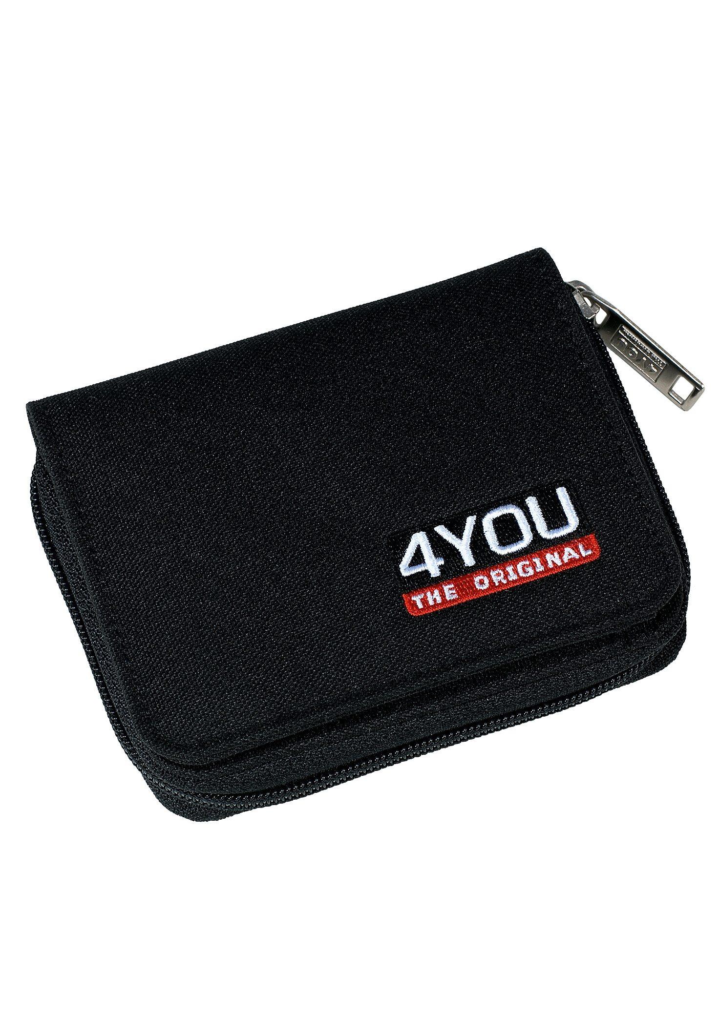 4YOU Geldbörse mit Reißverschluss, Black, »Zipper Wallet«