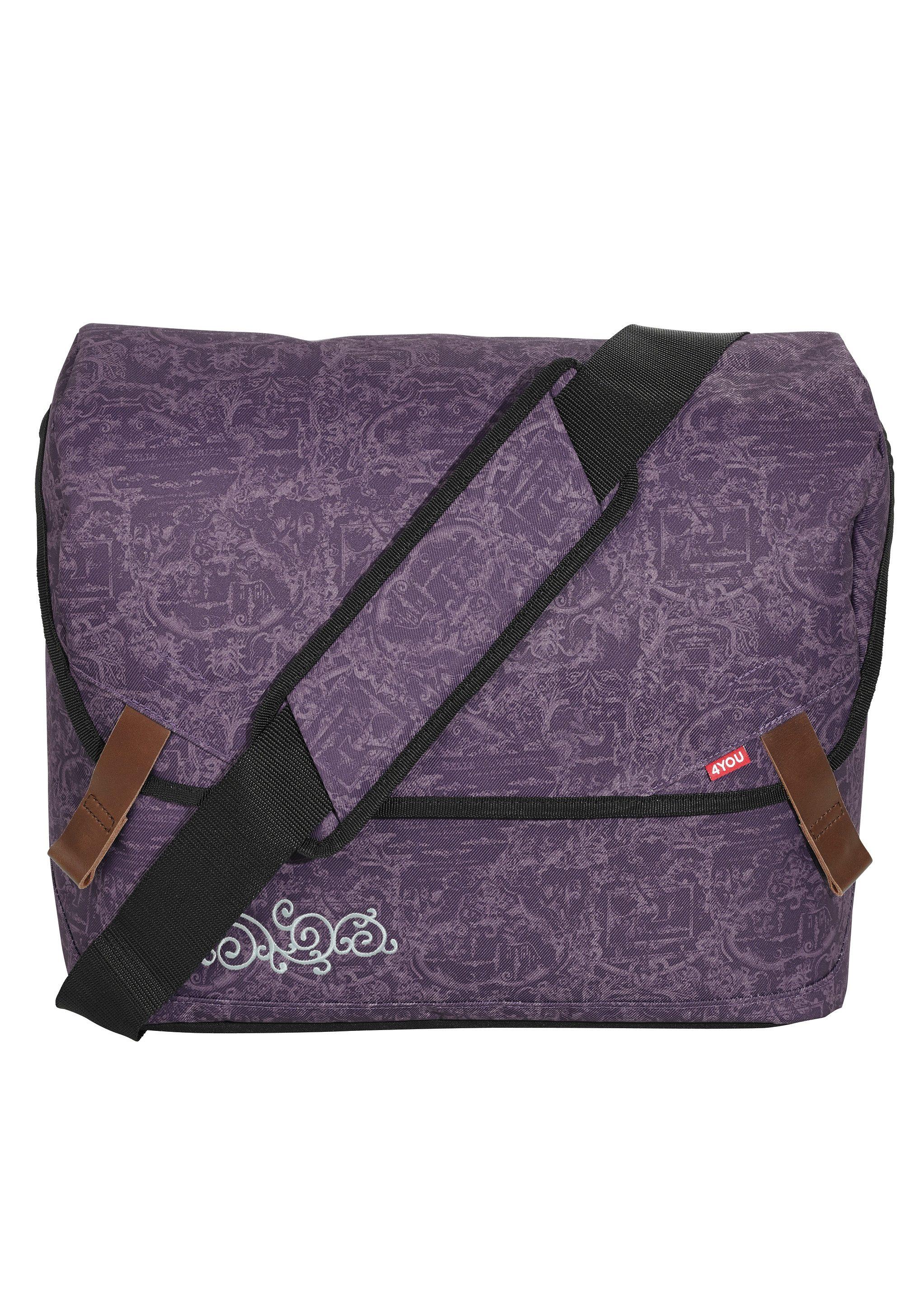 4YOU Umhängetasche mit Laptopfach, Candy Barock, »Messengerbag«