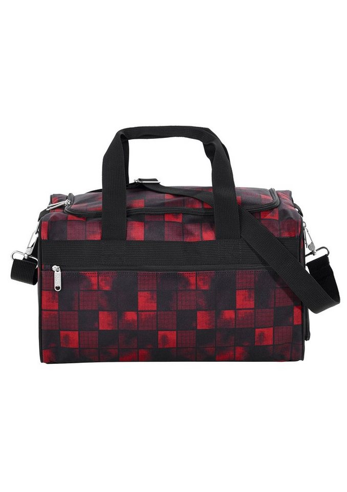 4YOU Sporttasche, Squares Red/Black, »Sportbag M« in Squares Red/Black