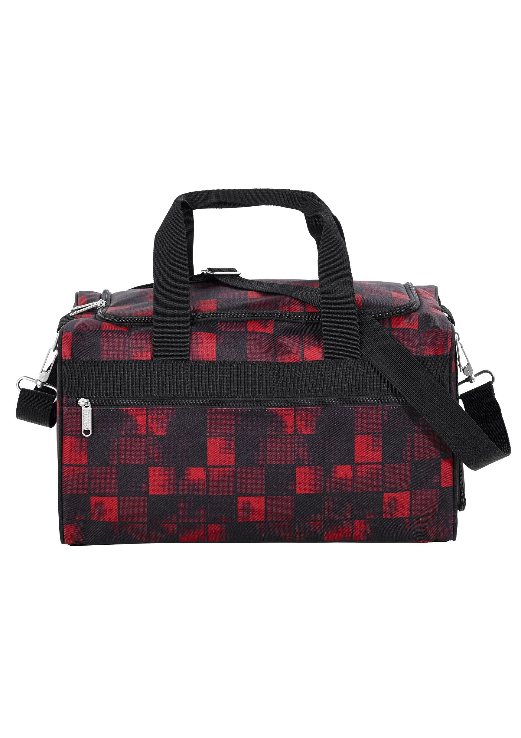 4YOU Sporttasche, Squares Red/Black, »Sportbag M«