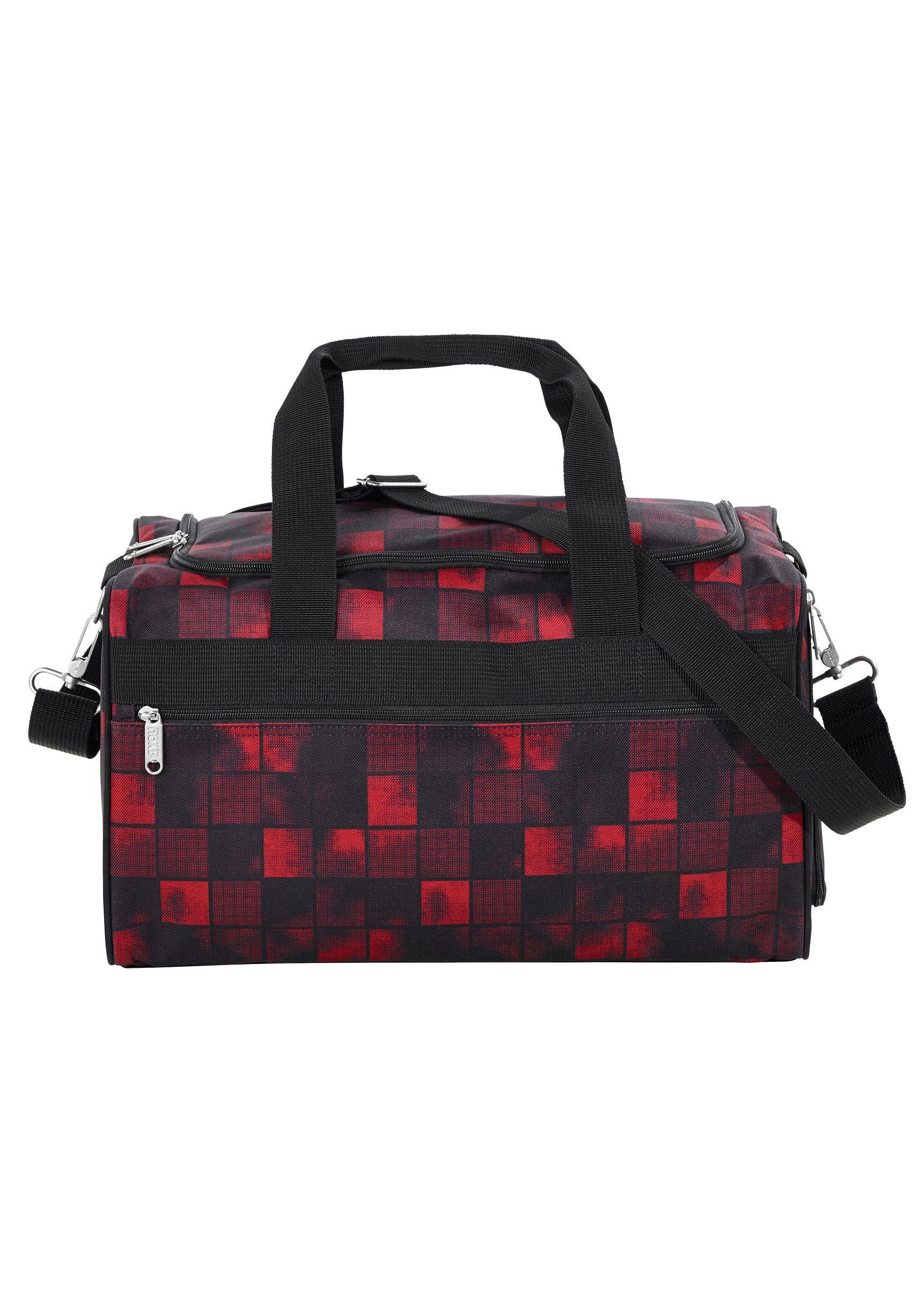 4YOU Sporttasche, Squares Red/Black, »Sportbag M«