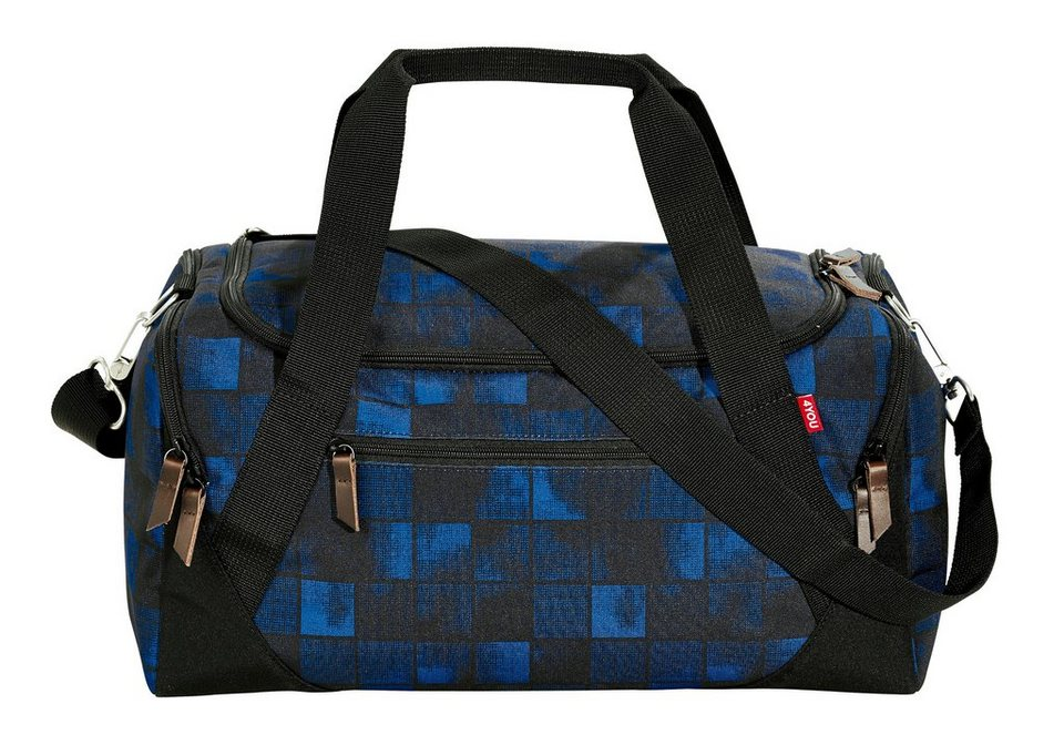 4YOU Sporttasche, Squares Blue, »Sportbag« in Squares Blue