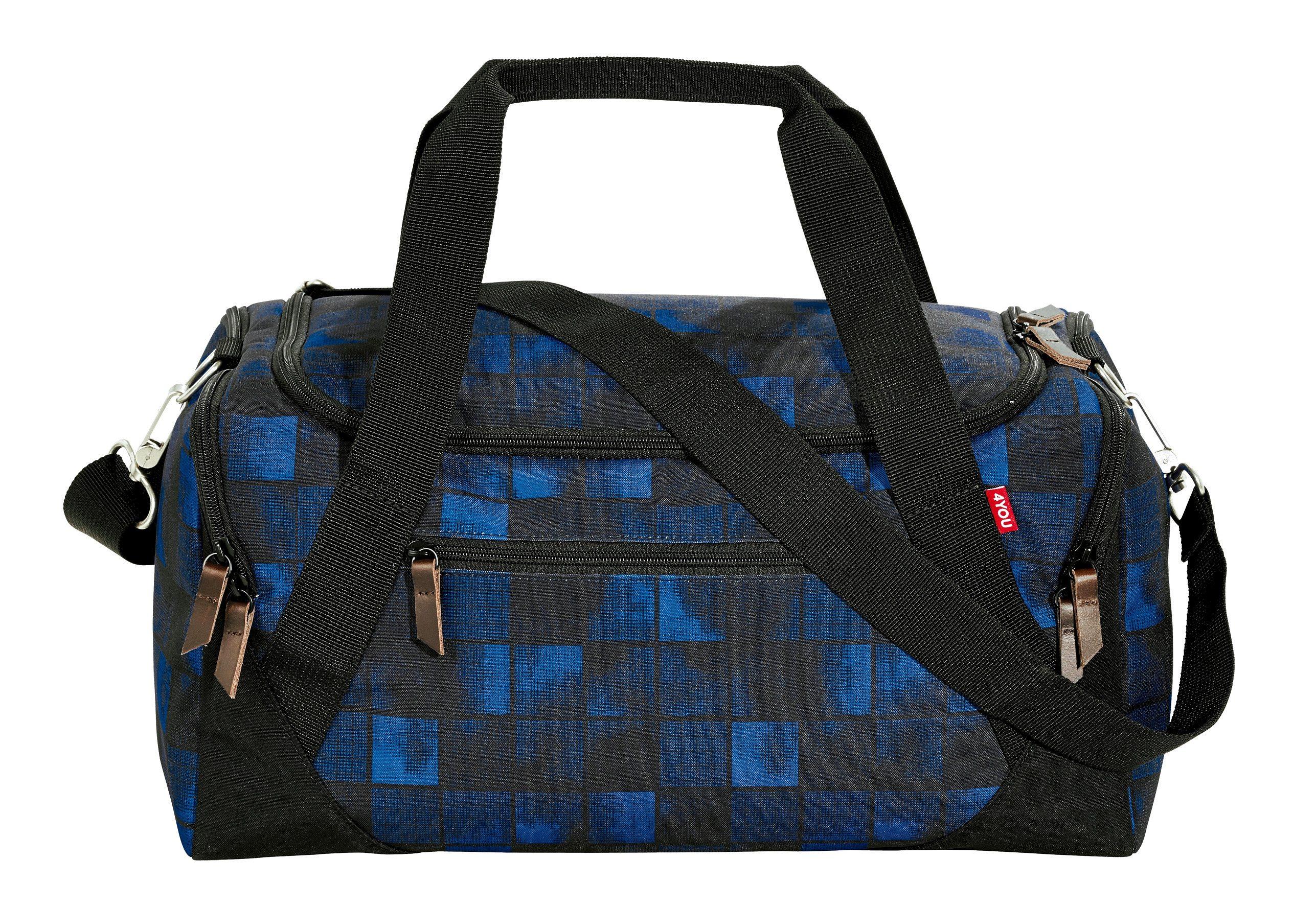 4YOU Sporttasche, Squares Blue, »Sportbag«