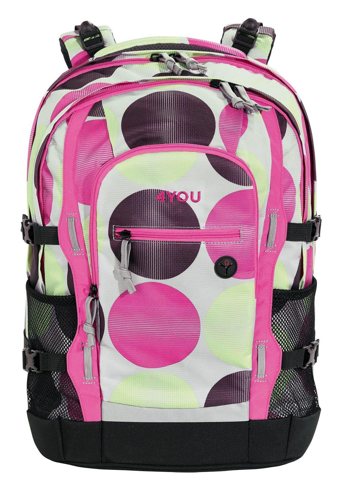 4YOU Schulrucksack mit Laptop- und Tabletfach, Dots, »Jump«