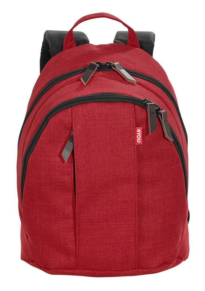 4YOU Rucksack, Soft Red, »Minirucksack« in Soft Red