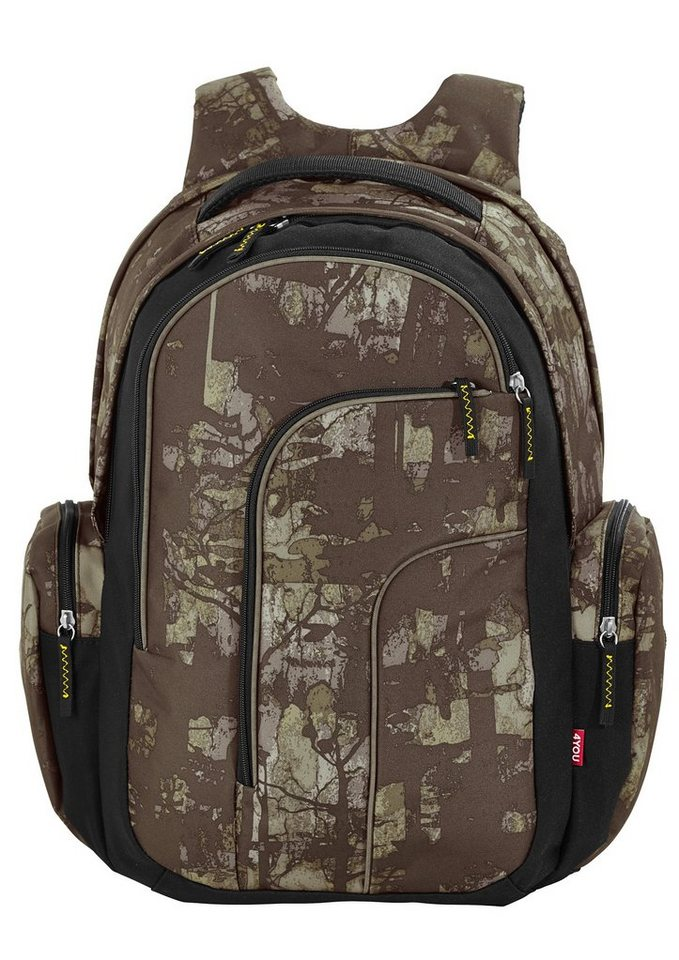 4YOU Schulrucksack mit Laptopfach, Camou Wood, »Move« in Camou Wood