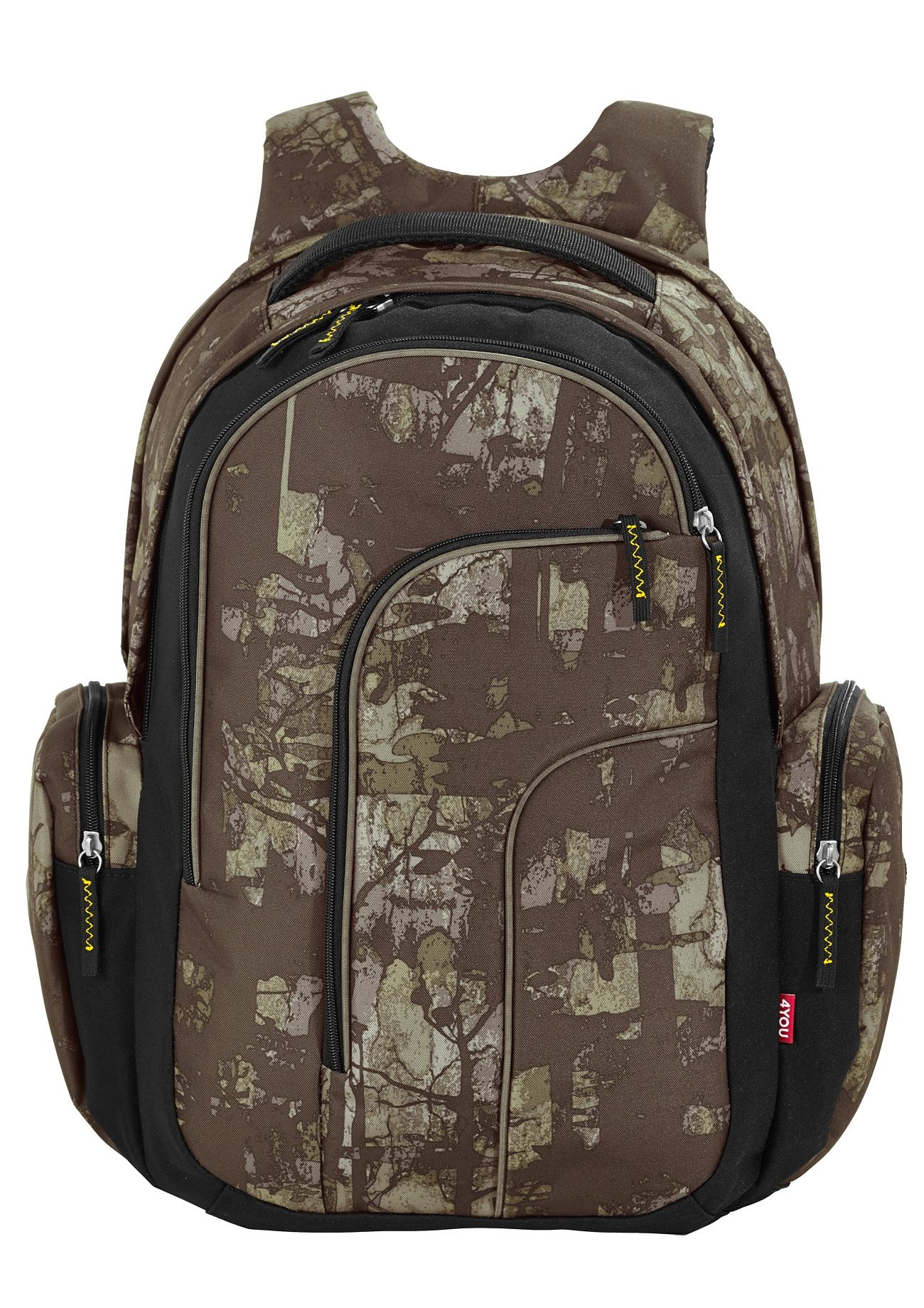 4YOU Schulrucksack mit Laptopfach, Camou Wood, »Move«