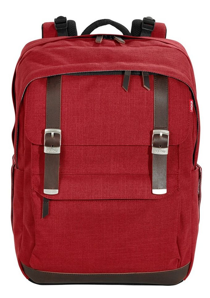 moderate Kosten 100% Qualitätsgarantie außergewöhnliche Farbpalette 4YOU Schulrucksack, Soft Red, »Legend« kaufen | OTTO