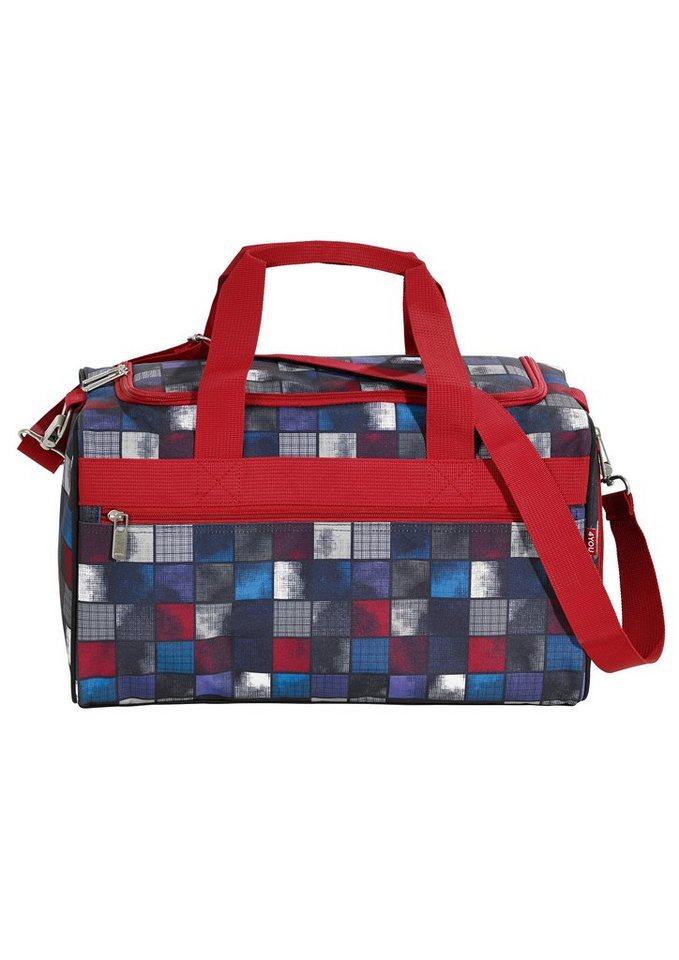 4YOU Sporttasche, Square Blue/Red, »Sportbag M« in Square Blue/Red