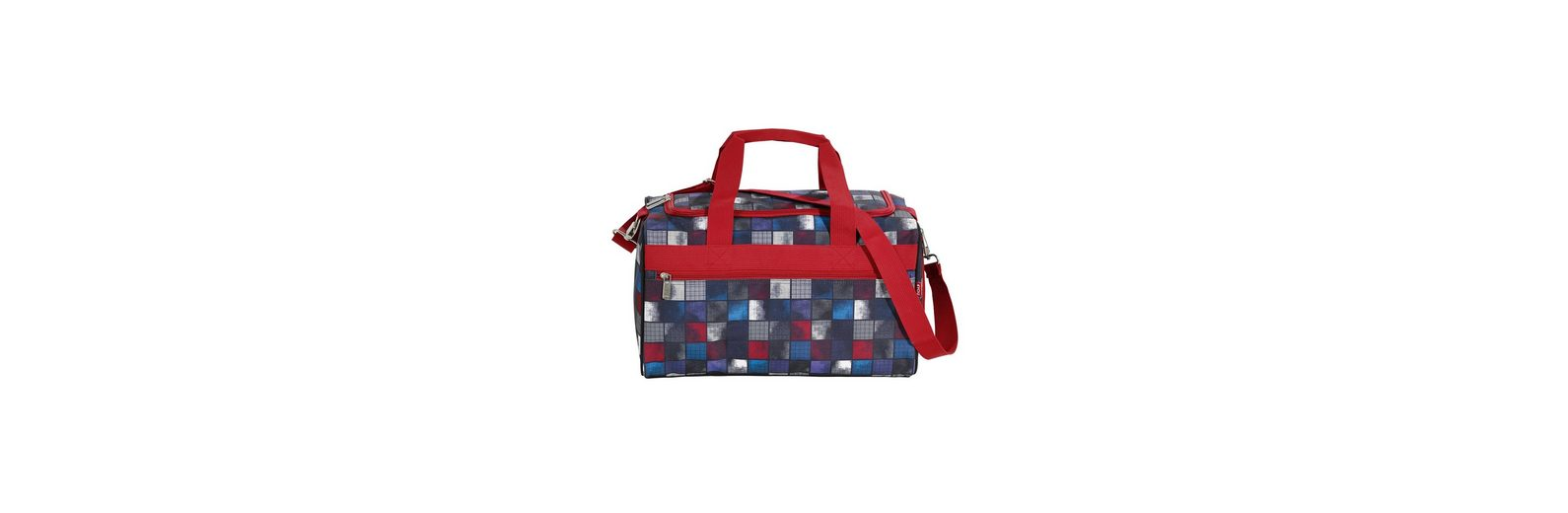 4YOU Sporttasche, Square Blue/Red, »Sportbag M«