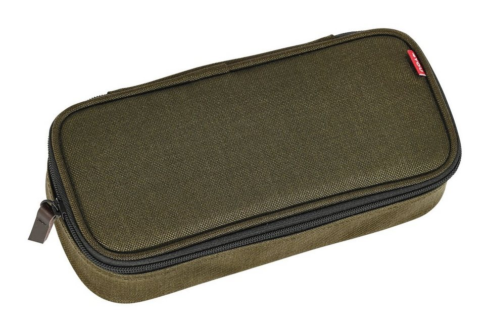 4YOU Mäppchen mit Geodreieck®, Olive, »Pencil Case« in Olive