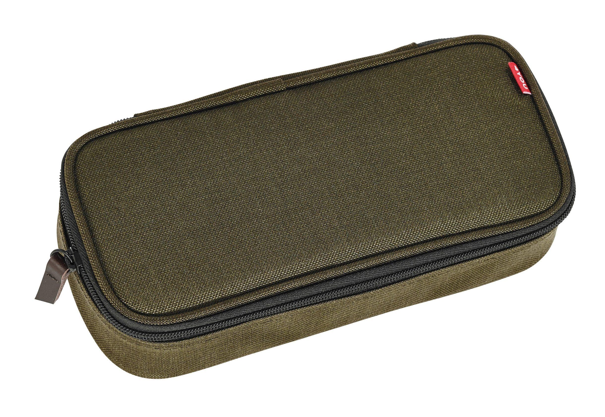 4YOU Mäppchen mit Geodreieck®, Olive, »Pencil Case«