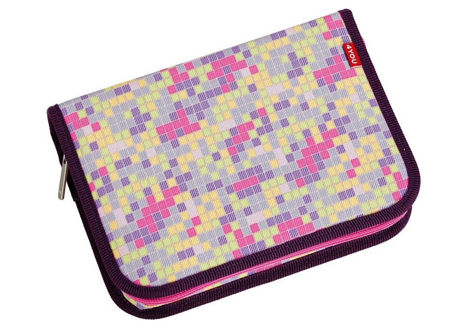 4YOU Mäppchen ungefüllt, Pixel Sunset, »Etui XXL« in Pixel Sunset