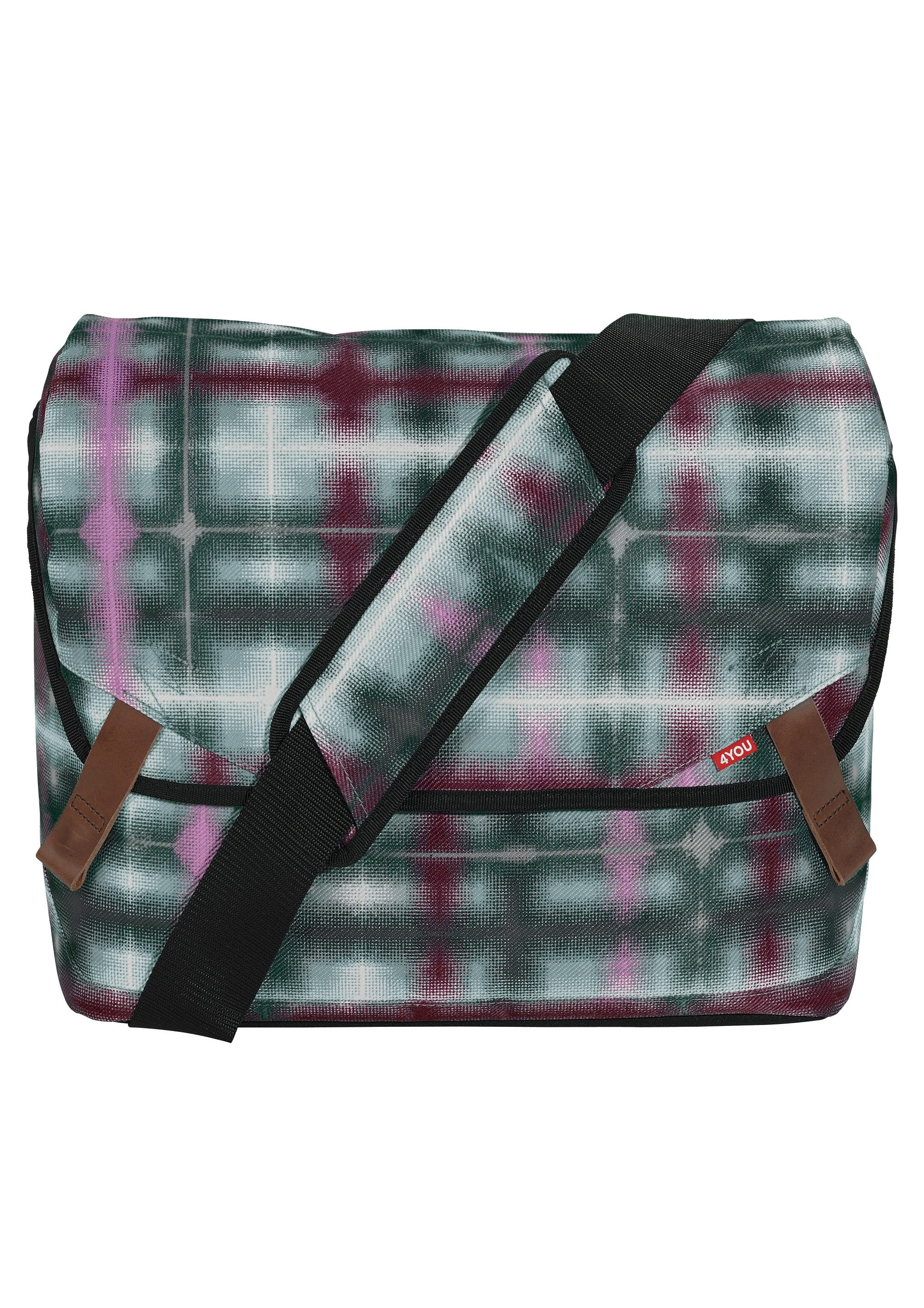4YOU Umhängetasche mit Laptopfach, Raster Squares, »Messengerbag«
