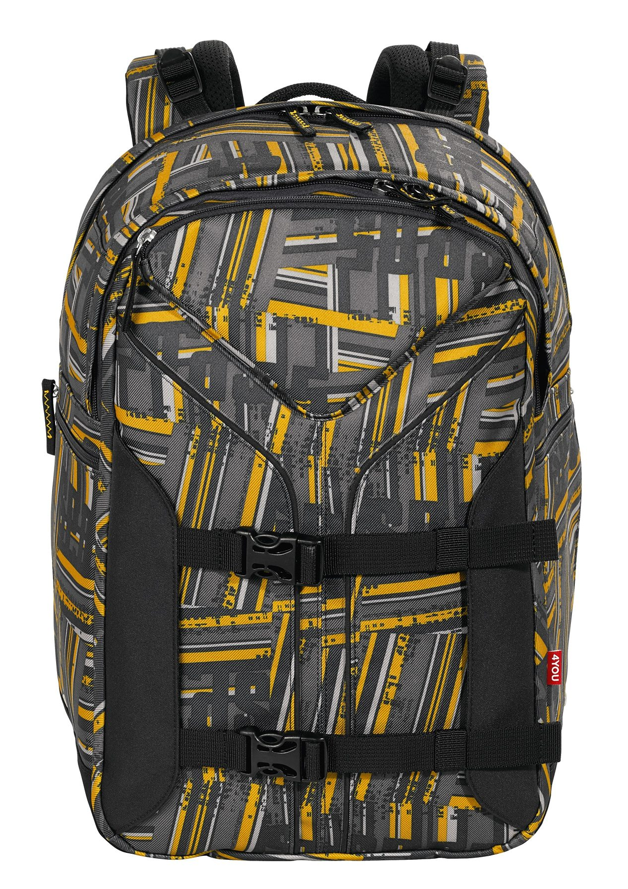 4YOU Rucksack mit Laptopfach, Stripes, »Boomerang Sport«