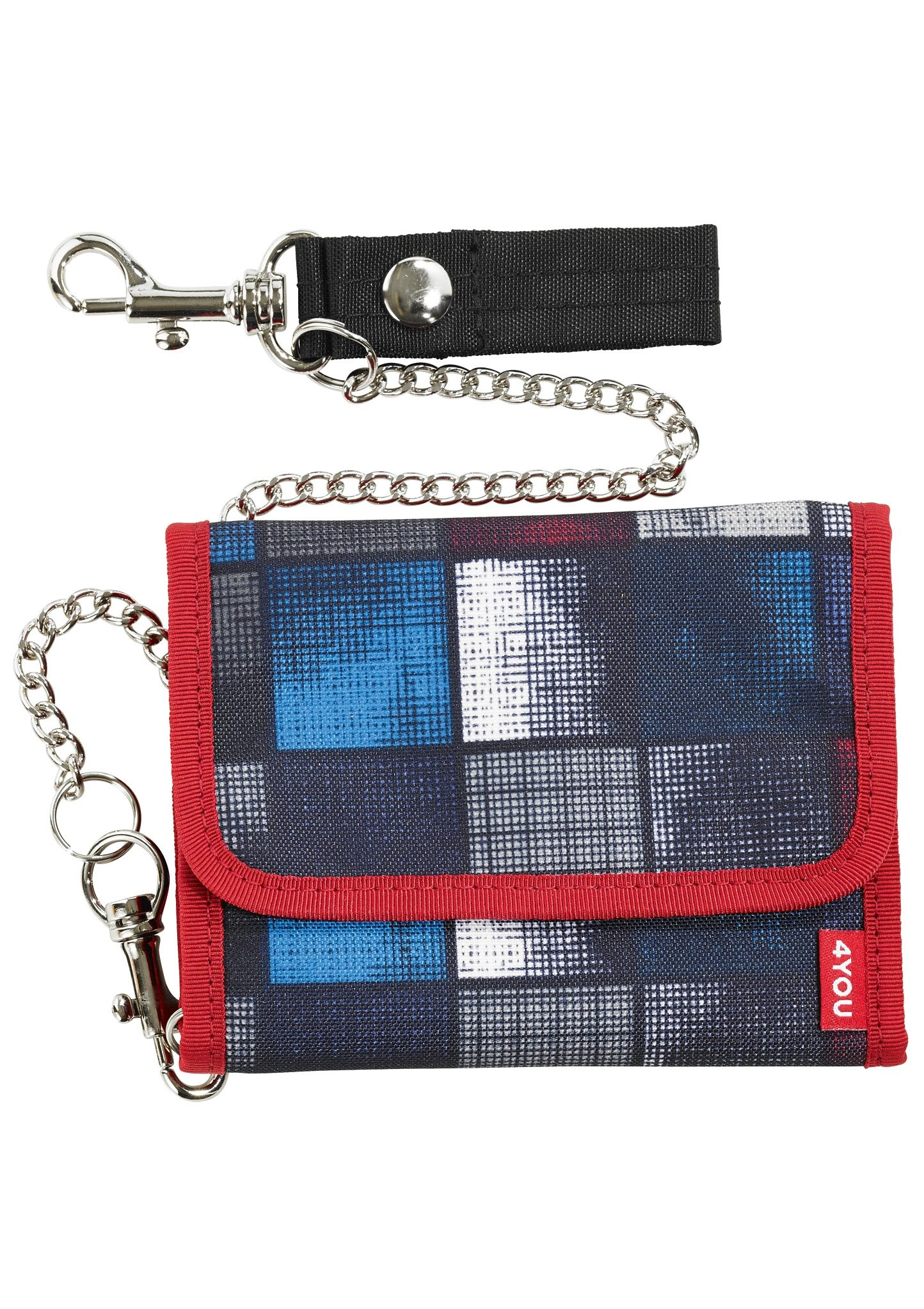 4YOU Geldbörse, Square Blue/Red, »Kettenbörse II«