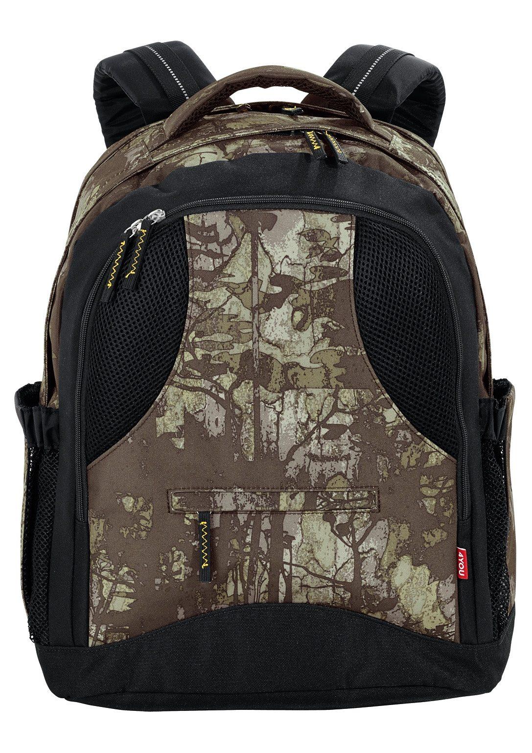 4YOU Schulrucksack mit Laptopfach, Camou Wood, »Compact«