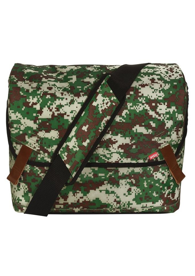 4YOU Umhängetasche mit Laptopfach, Camouflage, »Messengerbag« in Camouflage