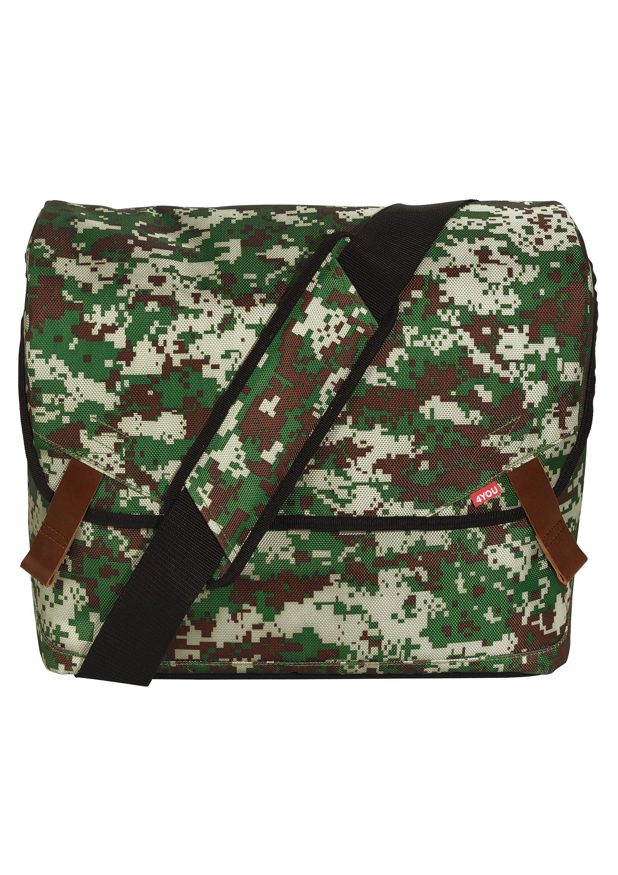 4YOU Umhängetasche mit Laptopfach, Camouflage, »Messengerbag«
