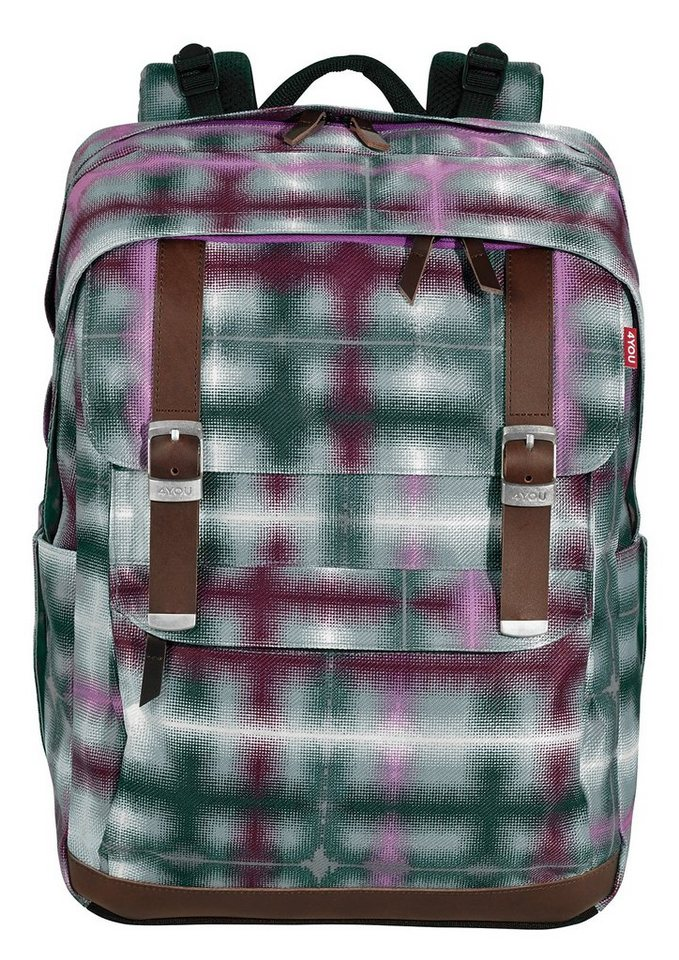 4YOU Schulrucksack, Raster Squares, »Legend« in Raster Squares