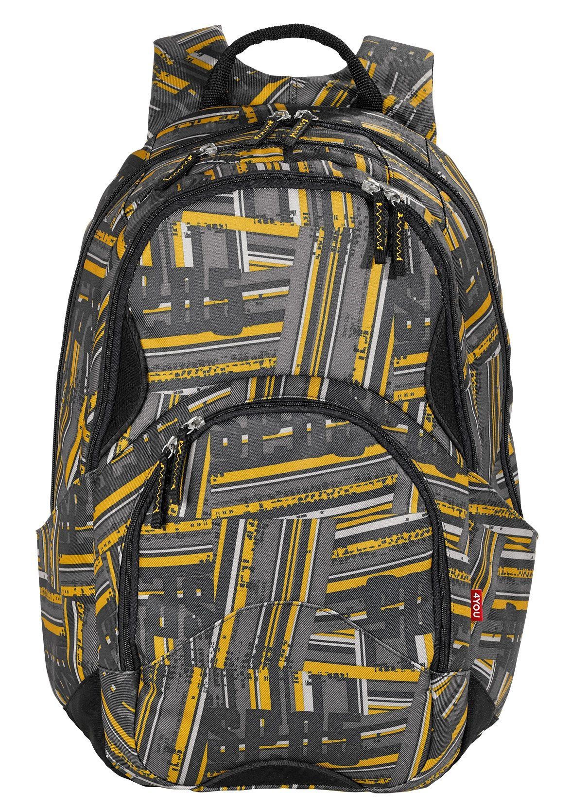 4YOU Schulrucksack mit Laptopfach, Stripes, »Flow«