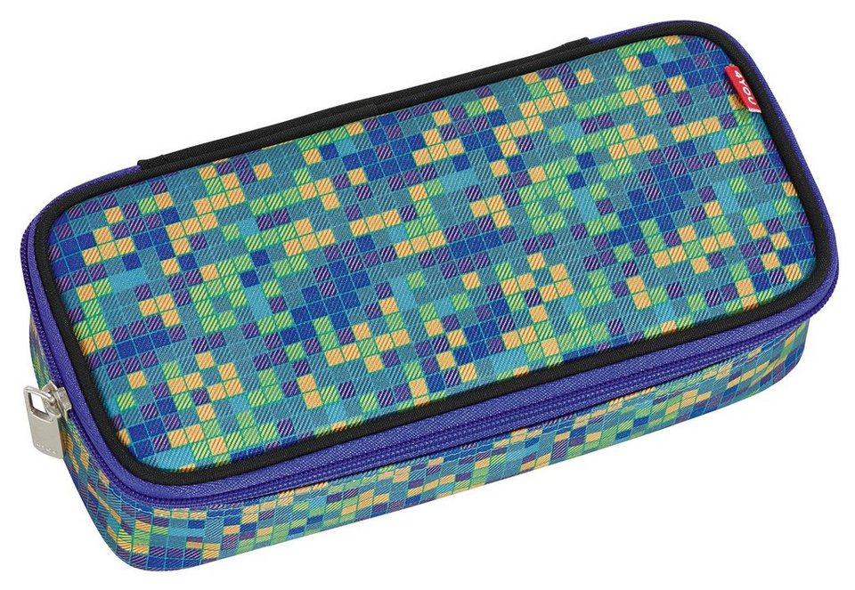 4YOU Mäppchen mit Geodreieck®, Pixel Smaragd, »Pencil Case« in Pixel Smaragd
