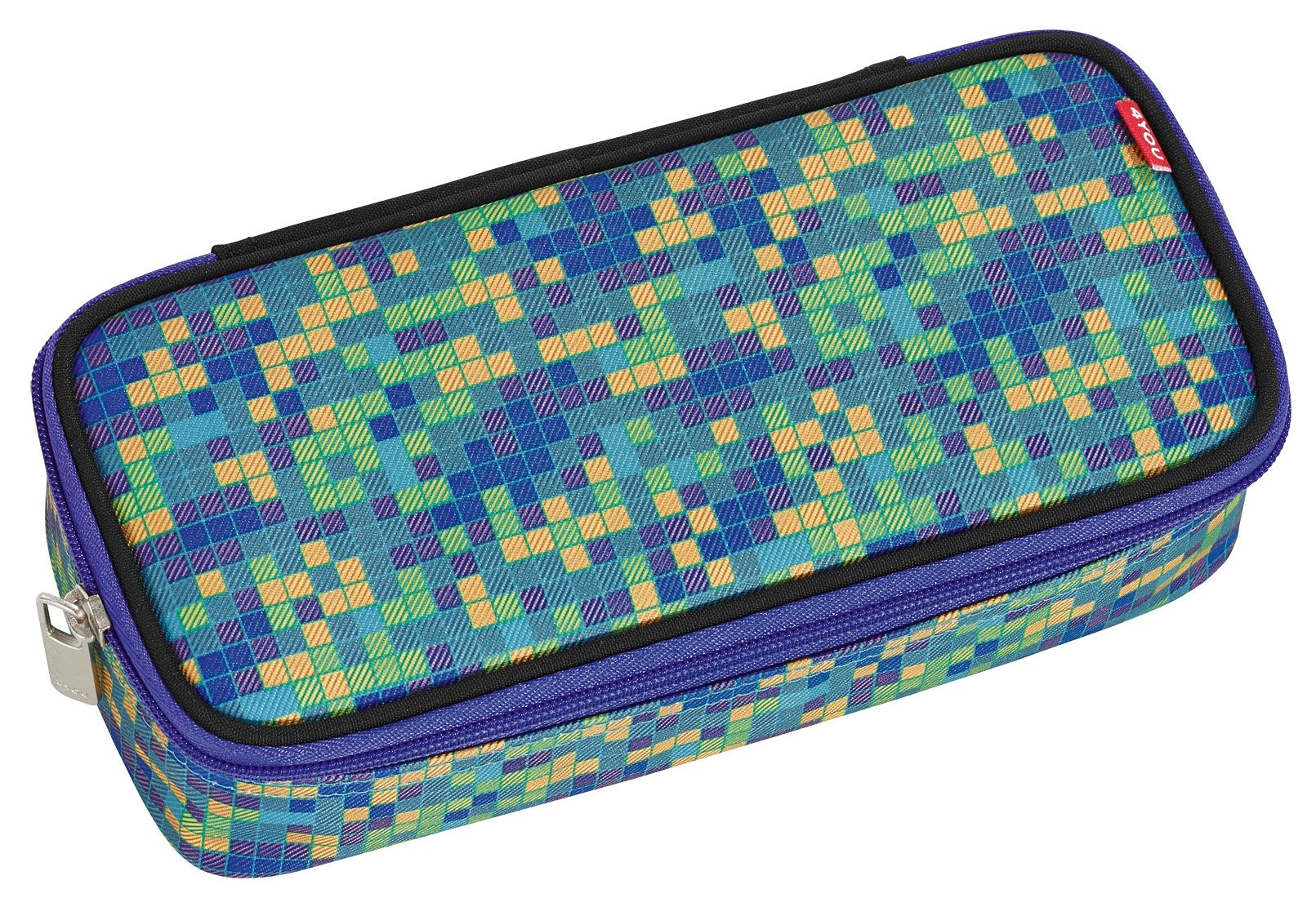 4YOU Mäppchen mit Geodreieck®, Pixel Smaragd, »Pencil Case«