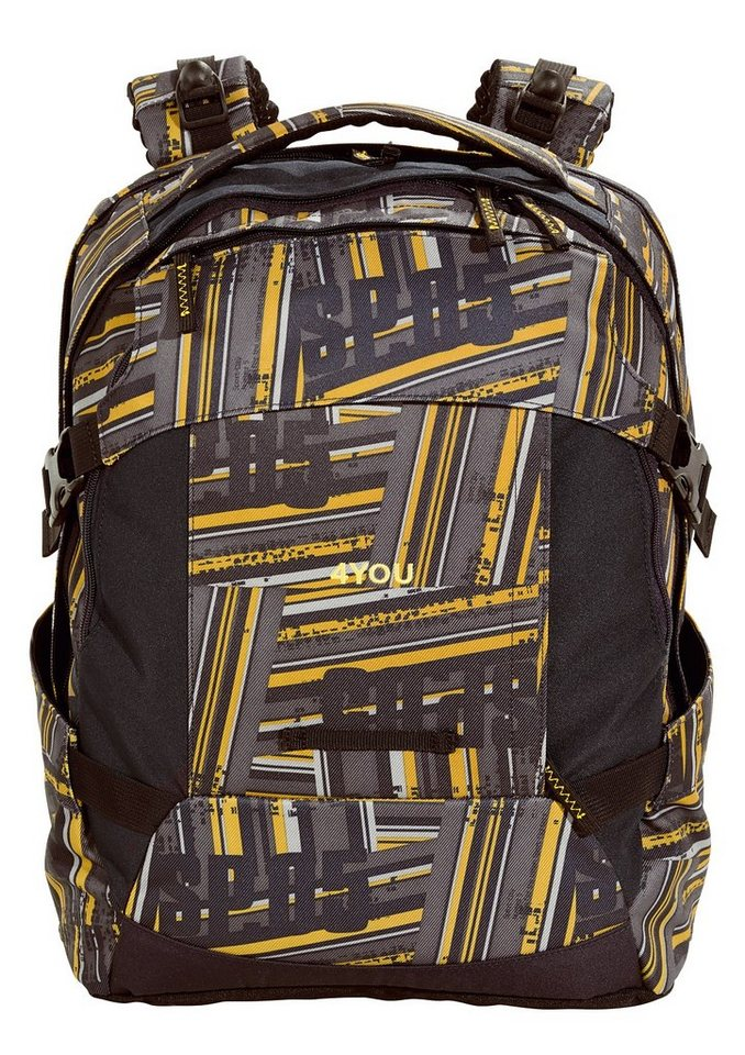 4YOU Schulrucksack mit Laptopfach, Stripes, »Tight Fit« in Stripes