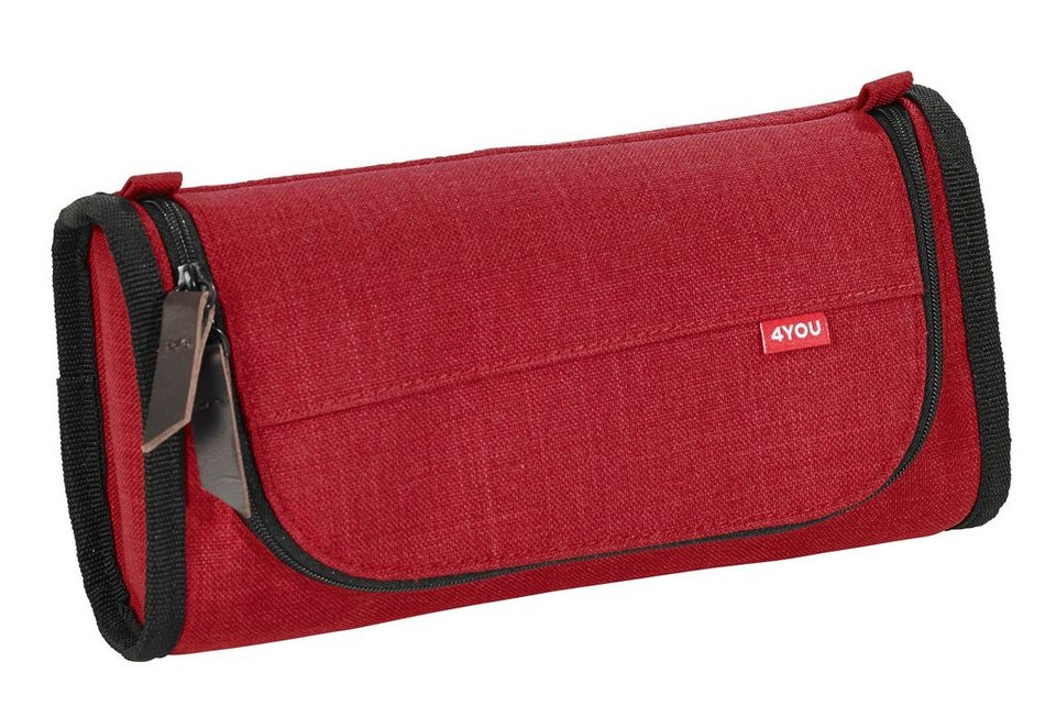 4YOU Schlampermäppchen oval, Soft Red, »Pencil Box« in Soft Red