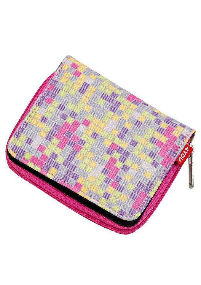 4YOU Geldbörse mit Reißverschluss, Pixel Sunset, »Zipper Wallet« in Pixel Sunset
