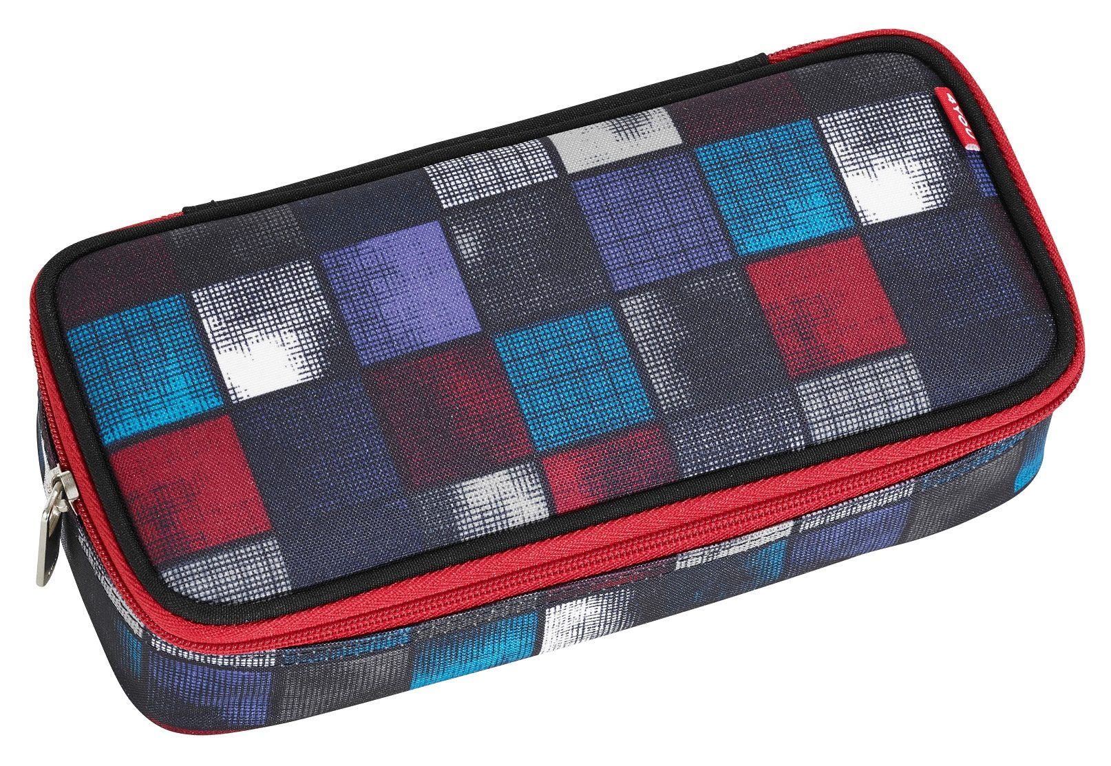 4YOU Mäppchen mit Geodreieck®, Square Blue/Red, »Pencil Case«