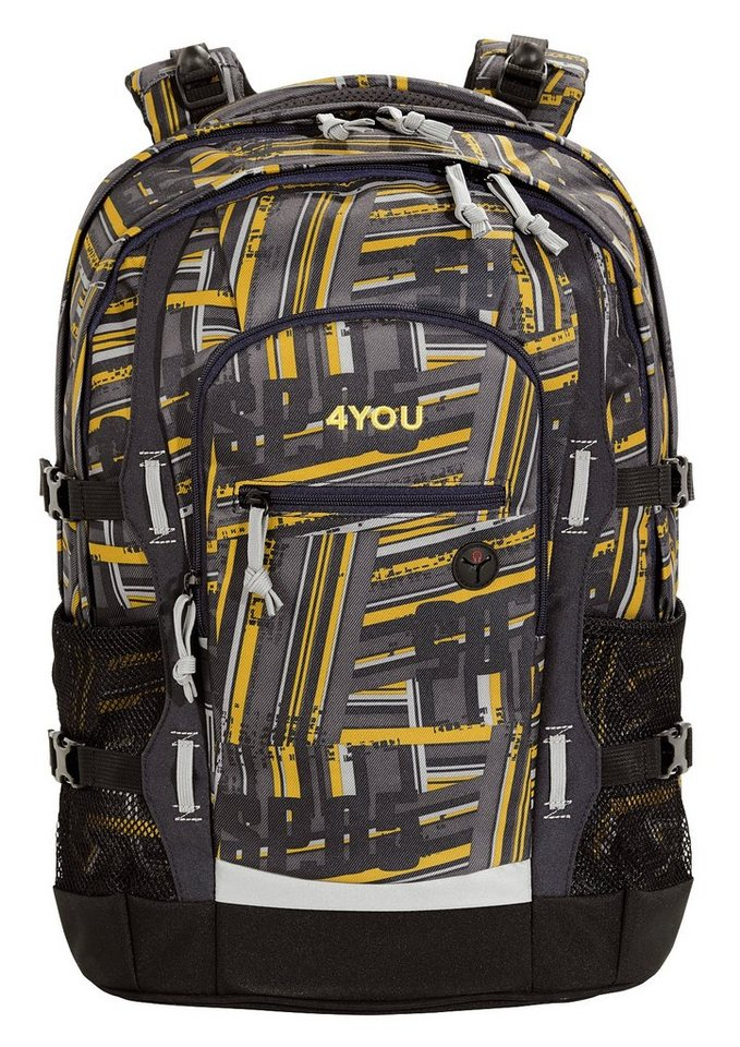 4YOU Schulrucksack mit Laptop- und Tabletfach, Stripes, »Jump« in Stripes