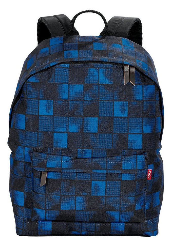 4YOU Rucksack, Squares Blue, »Daypack« in Squares Blue