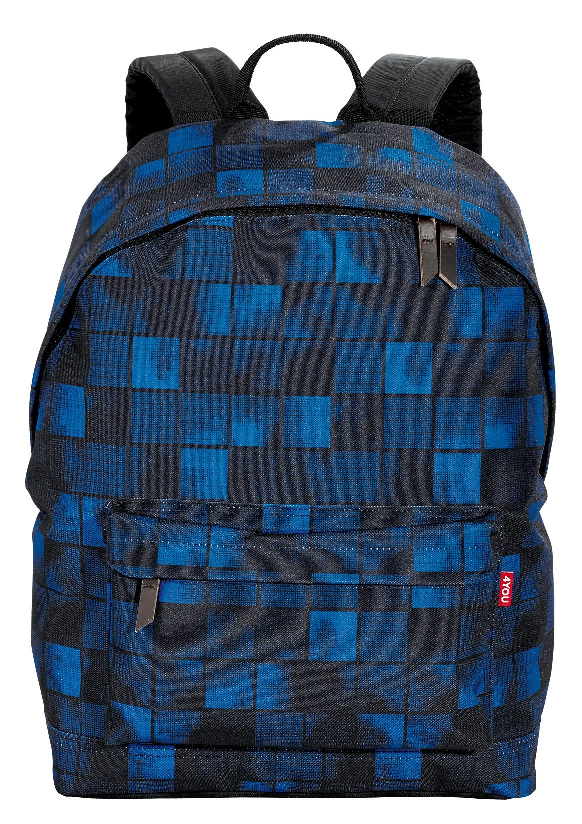 4YOU Rucksack, Squares Blue, »Daypack«
