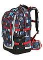 4YOU Schulrucksack mit Laptop- und Tabletfach, Square Blue/Red, »Jump«, Bild 2