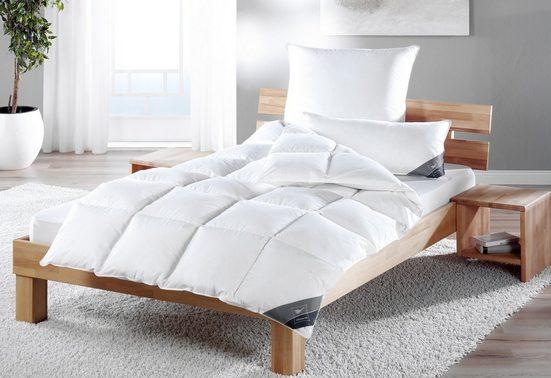 Daunenbettdecke, »Kuscheltraum«, Haeussling, warm, Füllung: 60% Daunen, 40% Federn, Bezug: 100% Baumwolle, (1-tlg)