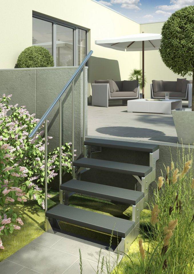 Außentreppe »Gardentop« in silberfarben