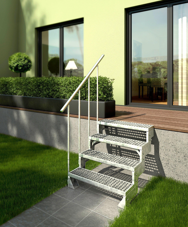 DOLLE Gitterroststufe »Gardentop«, für Außentreppe Breite: 80 cm
