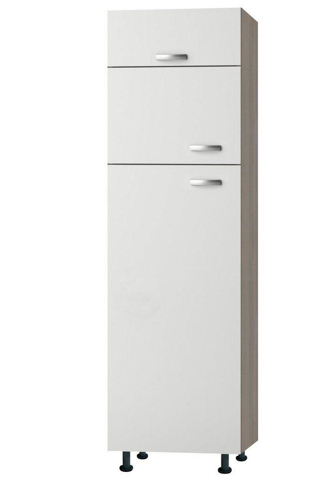 Kühl-Gefrierkombination »Torger«, Höhe 211,8 cm in weiß/piniefarben nougat