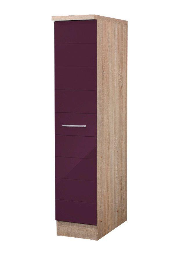 Apothekerschrank »Emden«, Höhe 165 cm in eichefarben/auberginefarben