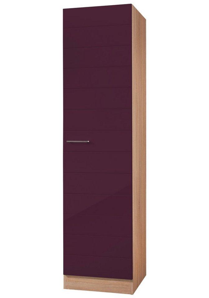 Vorratsschrank »Emden«, Breite 50 cm in auberginefarben/eichefarben