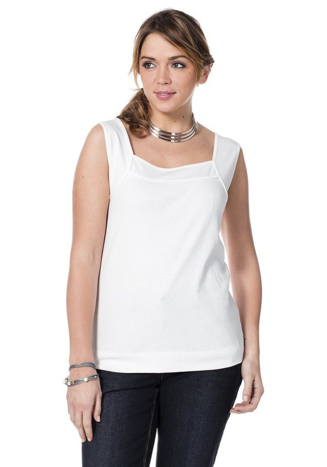sheego Casual Top in weiß