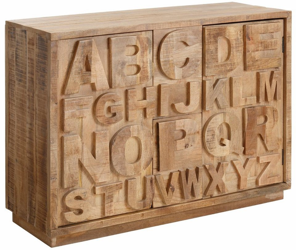 Sideboard, Home affaire, »ABC«, Breite 120 cm in mangoholz