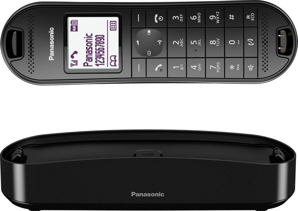 Panasonic KX-TGK320 Schnurloses DECT Telefon mit AB in schwarz