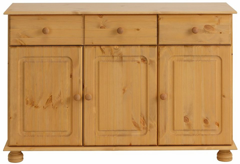 home affaire sideboard mette mit gefr sten kugelf rmigen f en breite 120 cm online kaufen. Black Bedroom Furniture Sets. Home Design Ideas