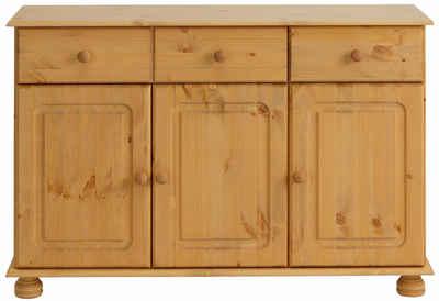 GroBartig Home Affaire Sideboard »Mette«, Mit Gefrästen, Kugelförmigen Füßen, Breite  120 Cm
