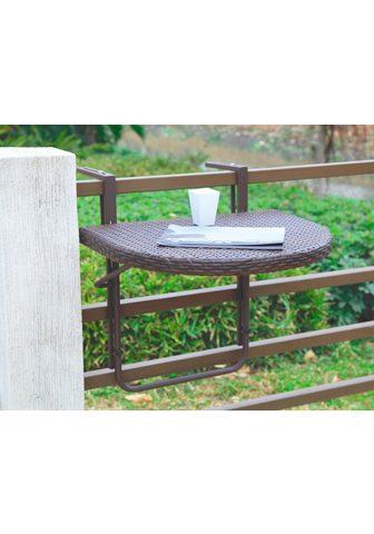 GARDEN PLEASURE Pakabinamas balkono stalas »Rattan« Po...