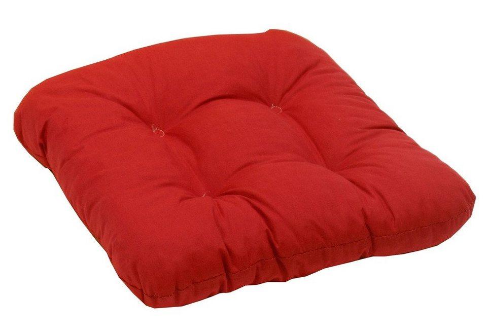 Sitzkissen (2 Stück) in rot