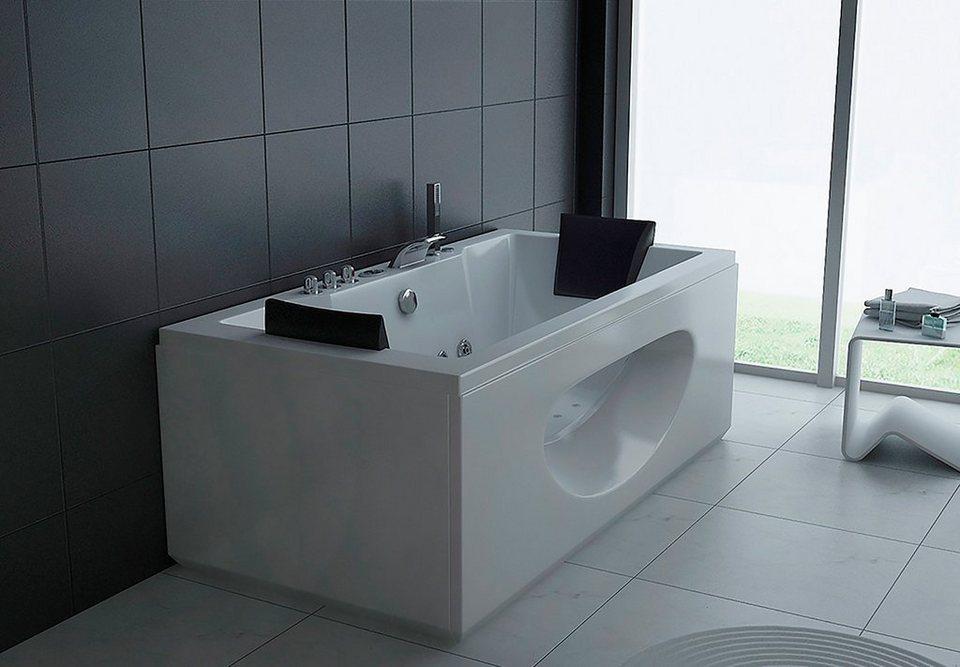 Komplett-Set: Whirlpoolwanne »White M«, 180 cm, Whirlpool-System