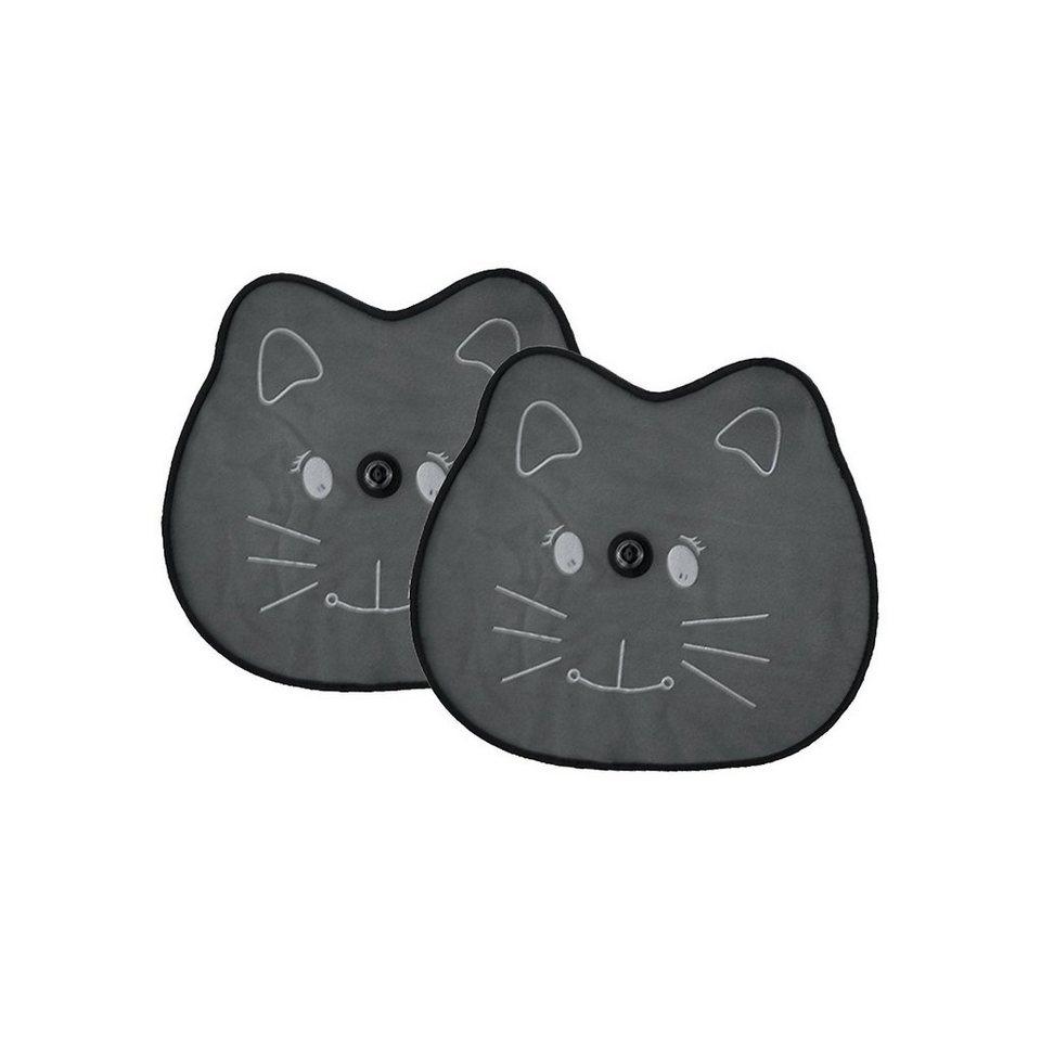 Kaufmann Sonnenschutz für die Seitenscheibe, Katze, 2er Pack in schwarz